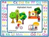 Alphabet Hunt Alphabet Cut and Paste Letter Matching Special Education Alphabet