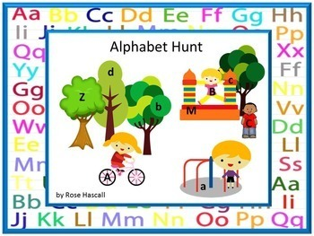 Alphabet Hunt Alphabet Cut and Paste Letter Matching Special Education Alphabet