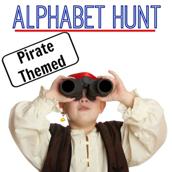 Alphabet Hunt - Moving With Letters (Pirate Themed)