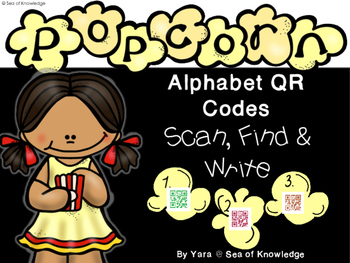 Alphabet Recognition Hunt QR Code Find, Scan & Write
