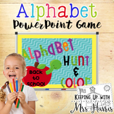 Alphabet Hunt and Color PowerPoint Game - Back to School