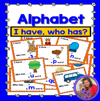 Alphabet 'I Have' Game