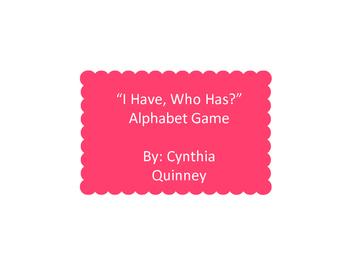 "Alphabet ""I Have, Who Has"""
