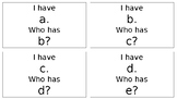 Alphabet I Have Who Has Freebie!