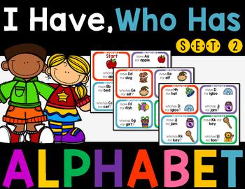 Alphabet I Have, Who Has Game Set 2