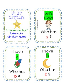 Alphabet I Have Who Has Games: Uppercase and Lowercase Game Included
