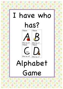 Alphabet I Have, Who has?
