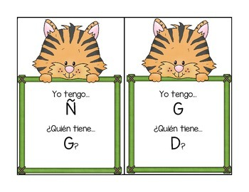 """Alphabet """"I Have/Who Has"""" Card Game (Spanish Version)"""