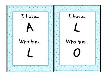 "Alphabet ""I Have/Who Has"" card set"