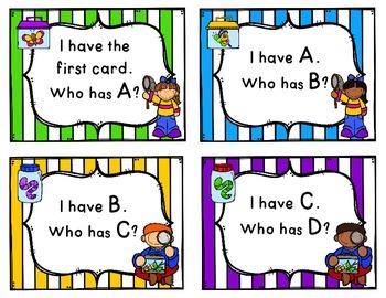 Alphabet - I have... Who has? {Uppercase & Lowercase}