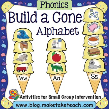 Alphabet - Ice Cream Cone Alphabet Match