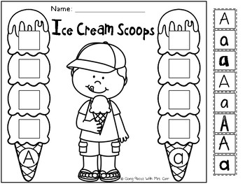 Alphabet Ice Cream Scoops - Sorting Lowercase and Uppercase Letters