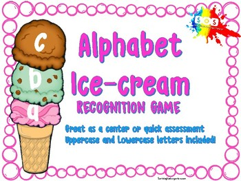 Alphabet Ice Cream (upper and lowecase letters)