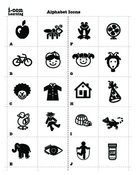 Alphabet Icons Mega Pac & 4 FREE A-Z Letter Match Worksheets