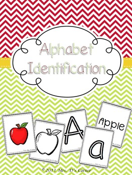 Alphabet Identification and Recognition Cards