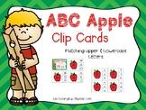 Alphabet Identification Clip Cards - Apple Version