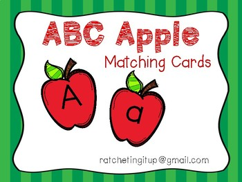 Alphabet Identification Clip Cards - Apple Version