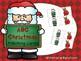 Alphabet Identification Clip Cards - Christmas Version