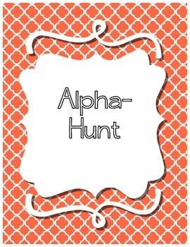 Alphabet Identification Hunt