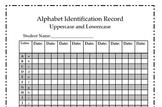 Alphabet Identification Record Sheet