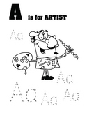 Alphabet Identification Tracing the Letter A