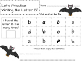 Find my letter!  Letter Recognition and Sentence Tracing- A-Z