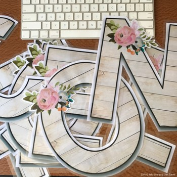 Alphabet Images - Country Floral