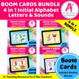 Alphabet Initial Letters & Sounds Phonics BOOM Cards BUNDL