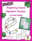 Letter Recognition: Lowercase Initial Sound Puzzles (Spanish)