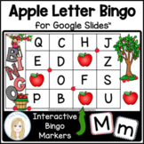 Alphabet Interactive Digital Apple Bingo Game for Google Slides™