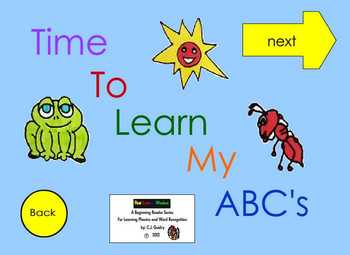 Alphabet Interactive EBook for Learning Alphabet