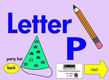 Alphabet Interactive EBook for Learning Letters P, Q and R