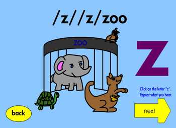 Alphabet Interactive EBook for Learning Letters W, X, Y and Z