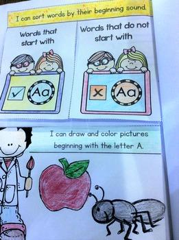 Interactive Alphabet Notebook Pre-K and Kindergarten