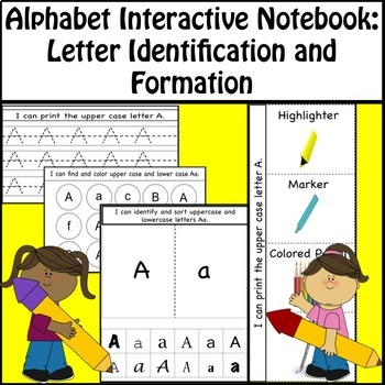 Alphabet Interactive Notebook - Upper & Lower Case Letters - Kindergarten