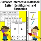 Alphabet Interactive Notebook - Upper & Lower Case Letters