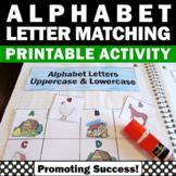 Upper Case and Lower Case Sort, Alphabet Interactive Notebook for Kindergarten