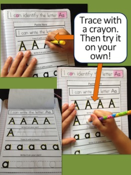 Back to School - Alphabet ID {Upper & Lower Case} Interactive Notebook