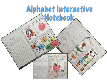 Alphabet Interactive Notebook Preschool/Kindergarten