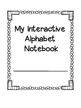 Alphabet Interactive Notebook for Special Education