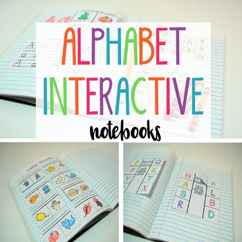 Alphabet Interactive Notebooks Pre-K and Kindergarten