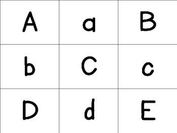 "Alphabet Intervention Time Card Game Bat ""Splat""!"