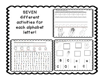HUGE PACK! 238 pages! Alphabet Introduction Activities Letters and Sounds Pack