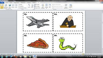 Alphabet - J - Letter and Picture Identification Task Cards - Kindergarten