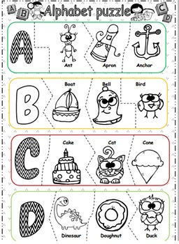 Alphabet Jigsaw for learning and playing