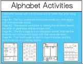 Alphabet Mega Bundle/Letter of the Week Activities- Back t