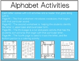 Alphabet Mega Bundle/Letter of the Week Activities- Back t