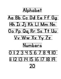 Alphabet Journal Anchor Chart with handwriting lines