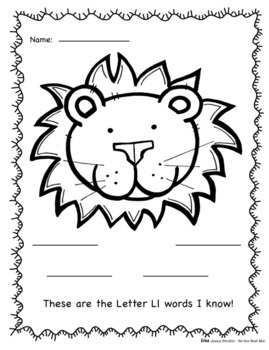 Alphabet Journal  I-L PLUS Graphic Organizers! Whole Class & Individual Work