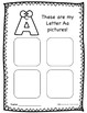 Alphabet Journal - Letter A - Graphic Organizers & Journal Pages - Freebie!